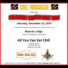 Chili Fundraiser for Cville Crimson Cadet Band Following Collinsville Parade, December 13