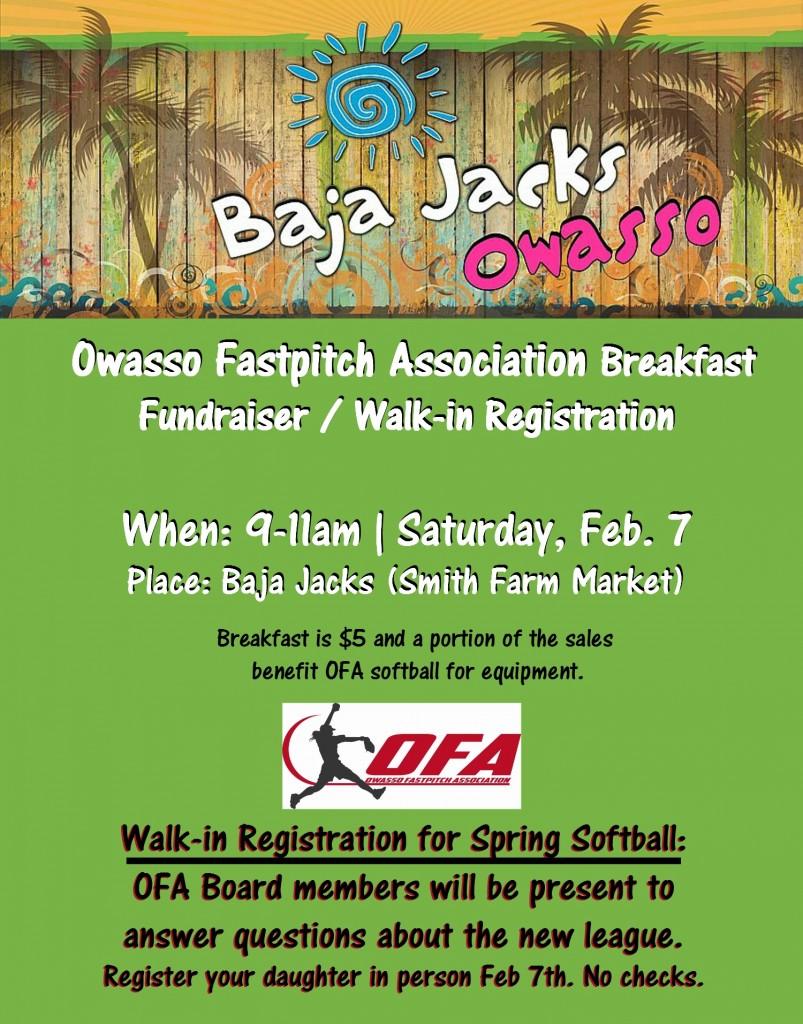 OFA fundraiser Baja jacks