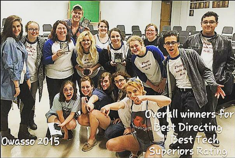 OHS Drama Receives Superior Ratings at Tulsa City Smashers 24 Hour Play Festival