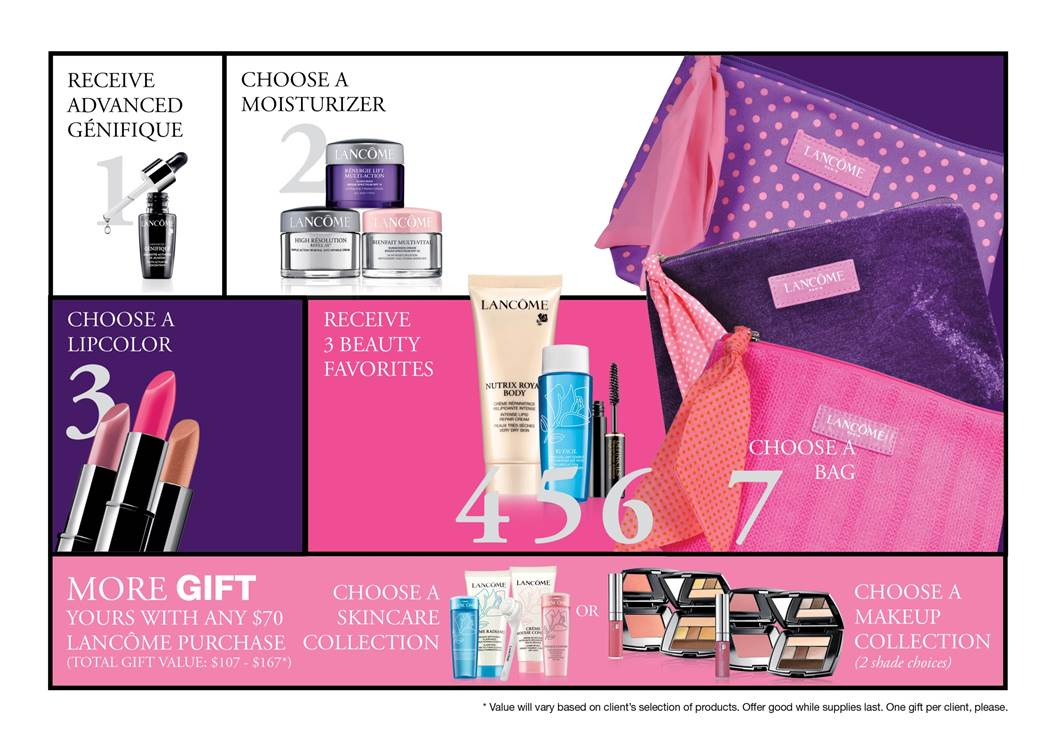 September is Lancome Gift with Purchase Time at Owasso Belk - Plus ...