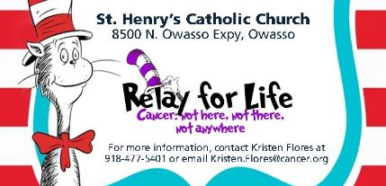 Relay for Life Kick off Party to be held January 29th