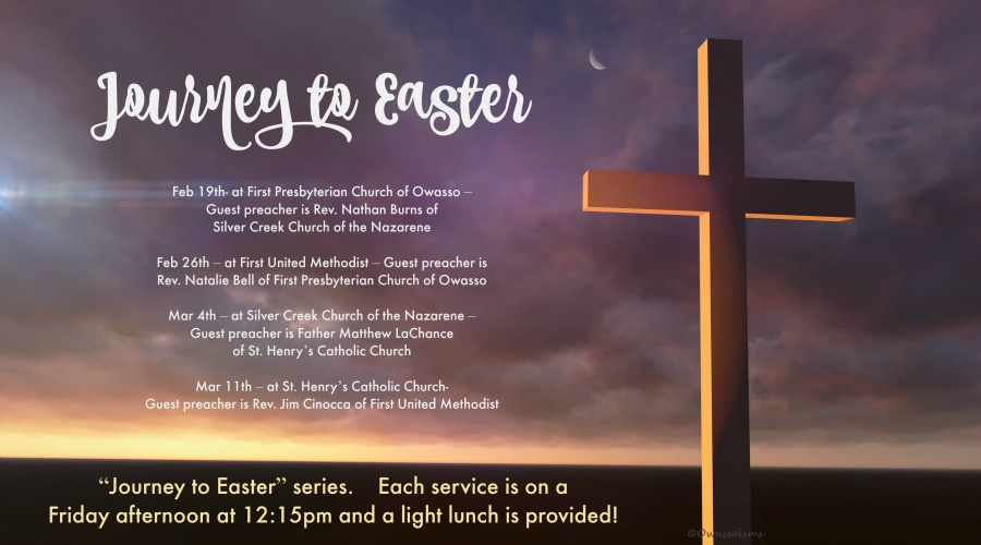 Journey to Easter Series begins February 19 at First Presbyterian Church