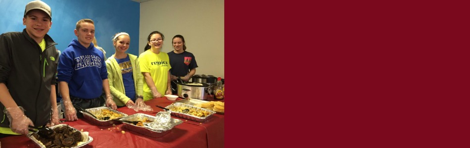 Rejoice Christian School 8th Grade Serves Breakfast to Tulsa Homeless