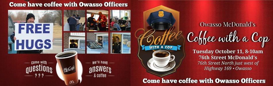 Owasso mcdonald 39 s schedules coffee with a cop october 11 for Acapulco golden tans salon owasso ok