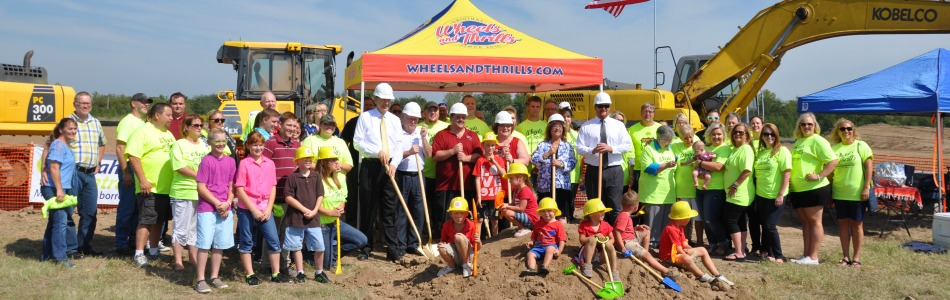 Groundbreaking ceremony held today for wheels and thrills for Acapulco golden tans salon owasso ok