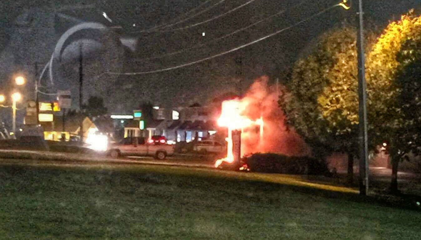 Smalltownnews mowery funeral home sign catches fire for Acapulco golden tans salon owasso ok