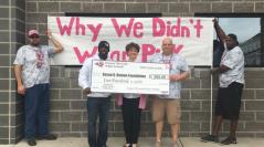 Owasso White 7th Grade Football Donates $500 to Susan G. Komen Foundation
