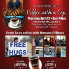 McDonald's Owasso to Host Coffee with a Cop April 20