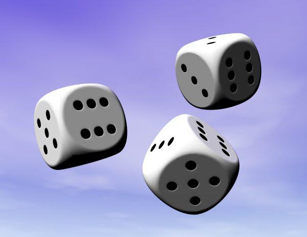 Digital visualization of dice