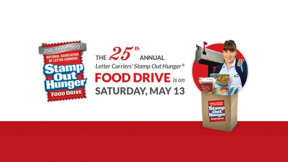 Stamp Out Hunger Food Drive Saturday, May 13