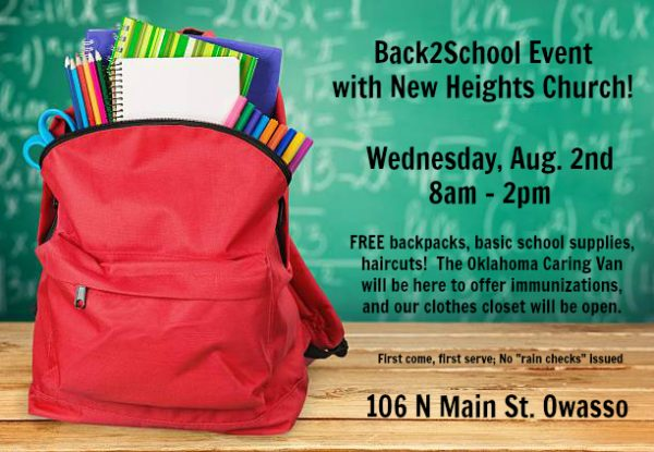 Free Backpacks, School Supplies and More to be Handed Out at