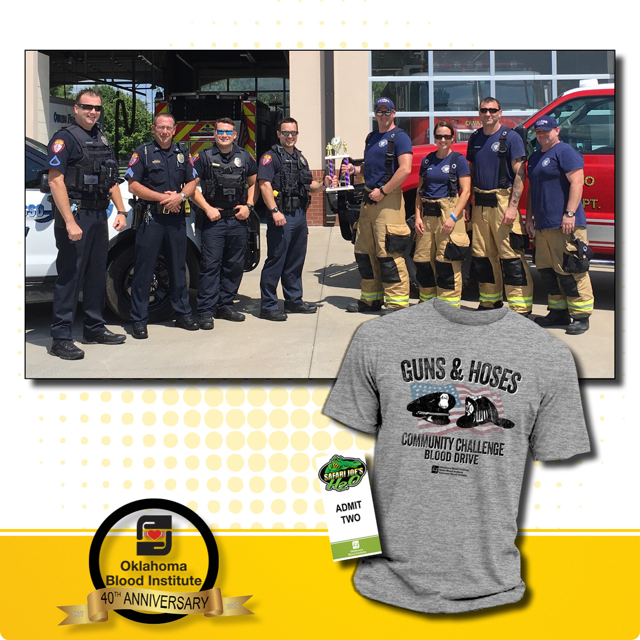 Guns and Hoses Community Challenge Blood Drive August 1st