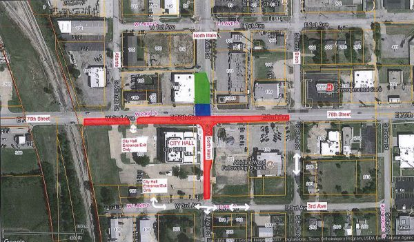 76th And Main Road Closure Update For Work Beginning July