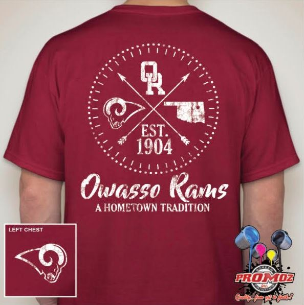 Get your Owasso Ram Hometown Tradition Shirts from Mills Elementary PTO