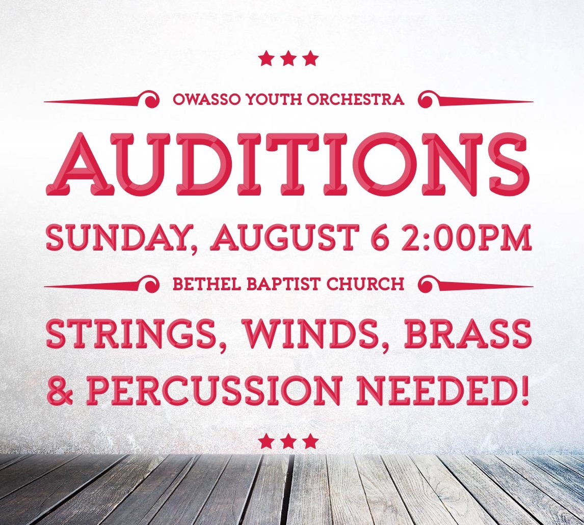 youth orchestra Auditions