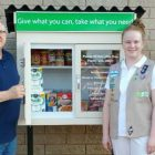 "Girl Scouts Gift "" Little Free Pantry"" to Owasso Community Resources"