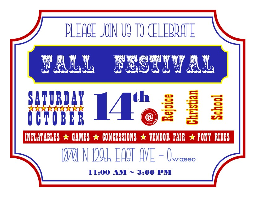 Fall Festival Postcard - in house front (2)