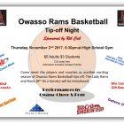 Owasso Rams Basketball Tip-off Night November 2nd