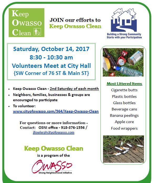keep owasso clean oct 14 flyer