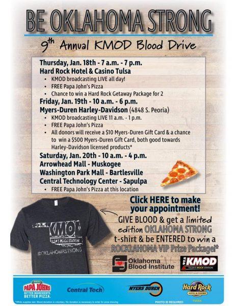 blood drive free pizza