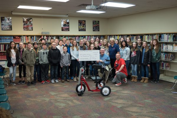 Owasso 7th Grade Center Raises $4,000 for Local Ambucs Chapter Amtryke Program