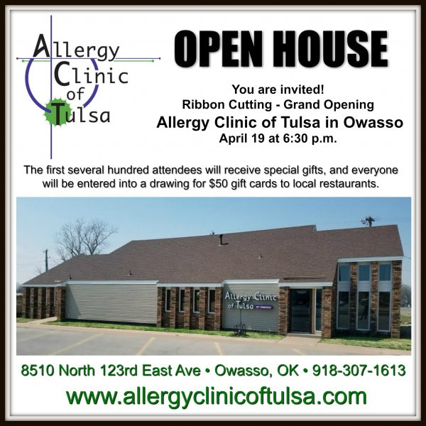 Allergy Clinic of Tulsa Open House Ad