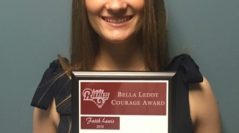 Lady Rams Soccer Present First Ever Bella Leddy Courage Award to Faith Lewis