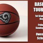 Owasso Basketball Tournament •  1st Grade – 8th Grade Boys & Girls