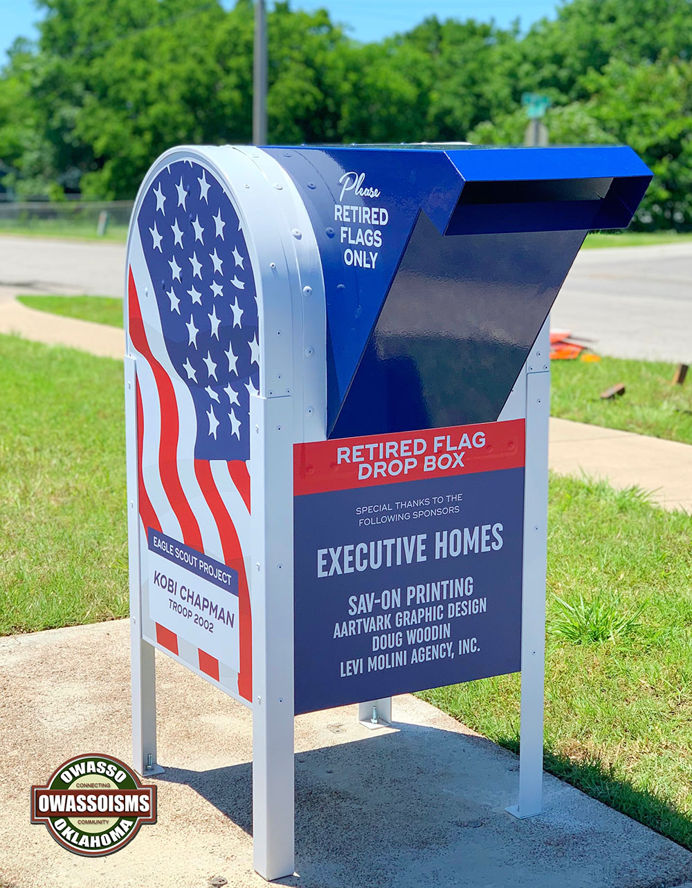 Owasso Eagle Scout Creates Retired Flag Drop Box for VFW