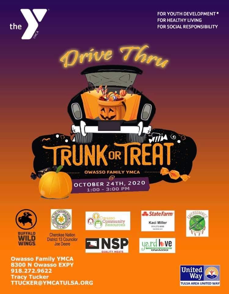 Owasso Family YMCA Hosting Trunk or Treat Saturday