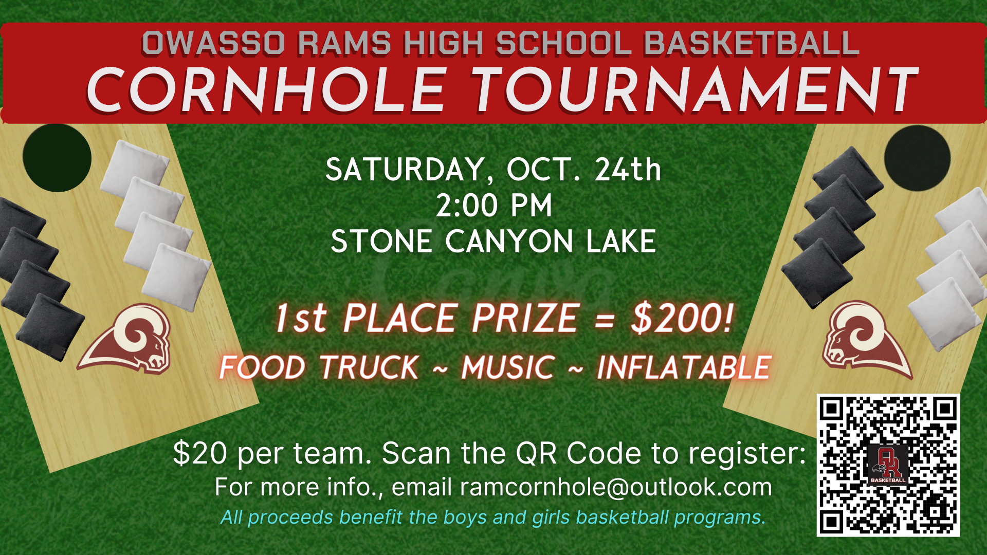 Basketball Cornhole Fundraiser