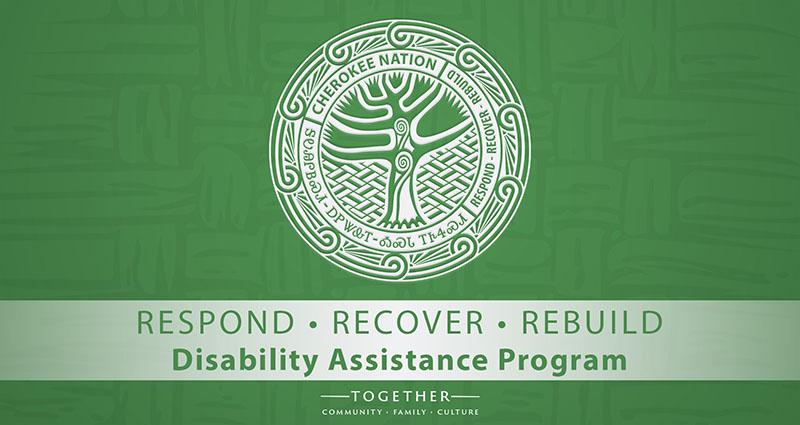 Cherokee Nation $9 million Disability Assistance Program Application Deadline November 6