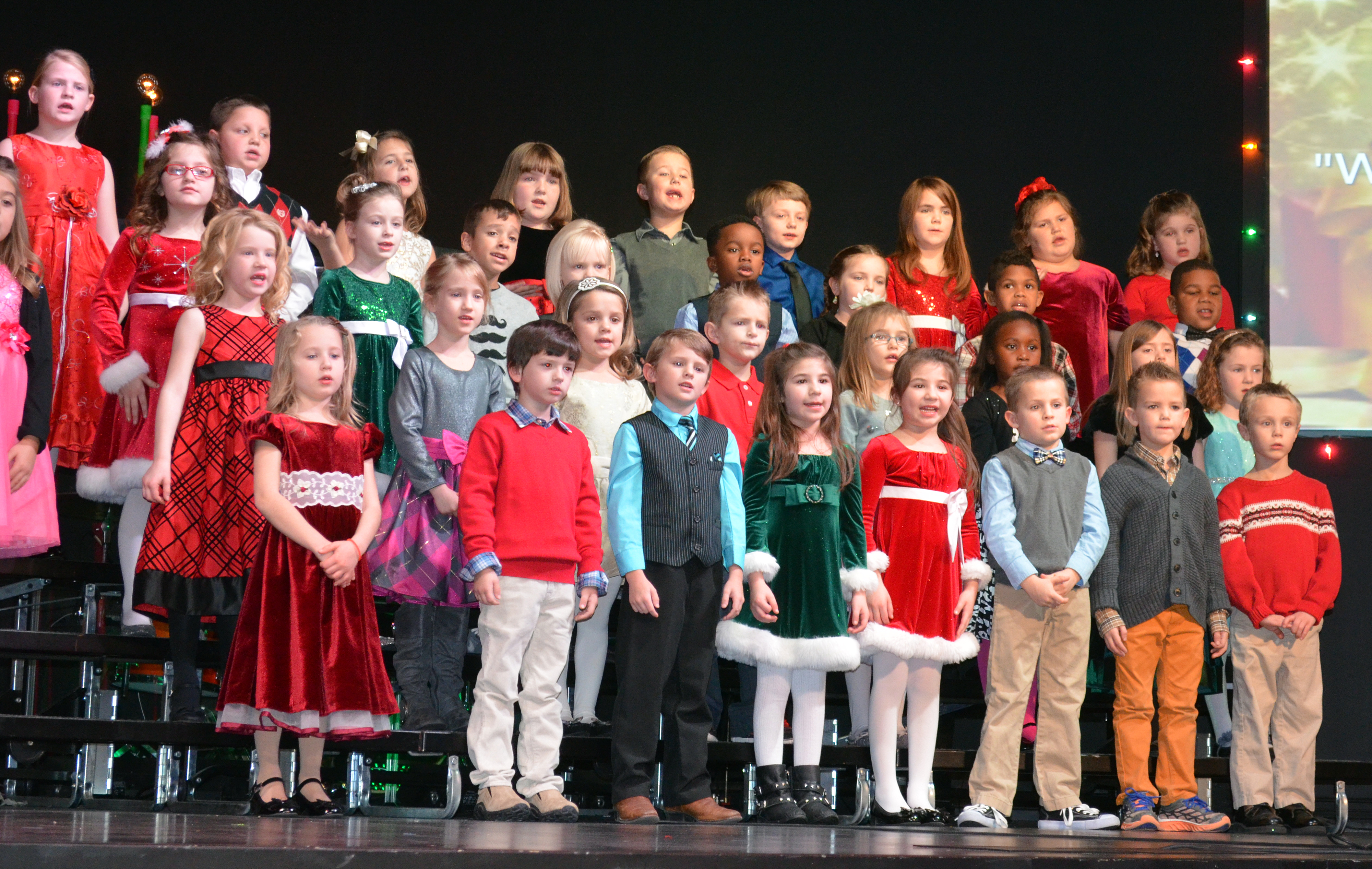 Rejoice Christian Schools' First Grade Students Spread Christmas Cheer at their Program Dec 16th