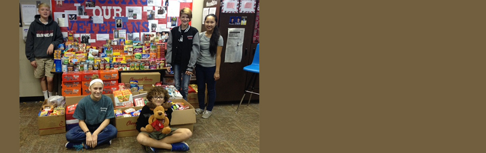 Owasso 8th Grade History Students Fundraiser Contest for Soldiers proves Successful