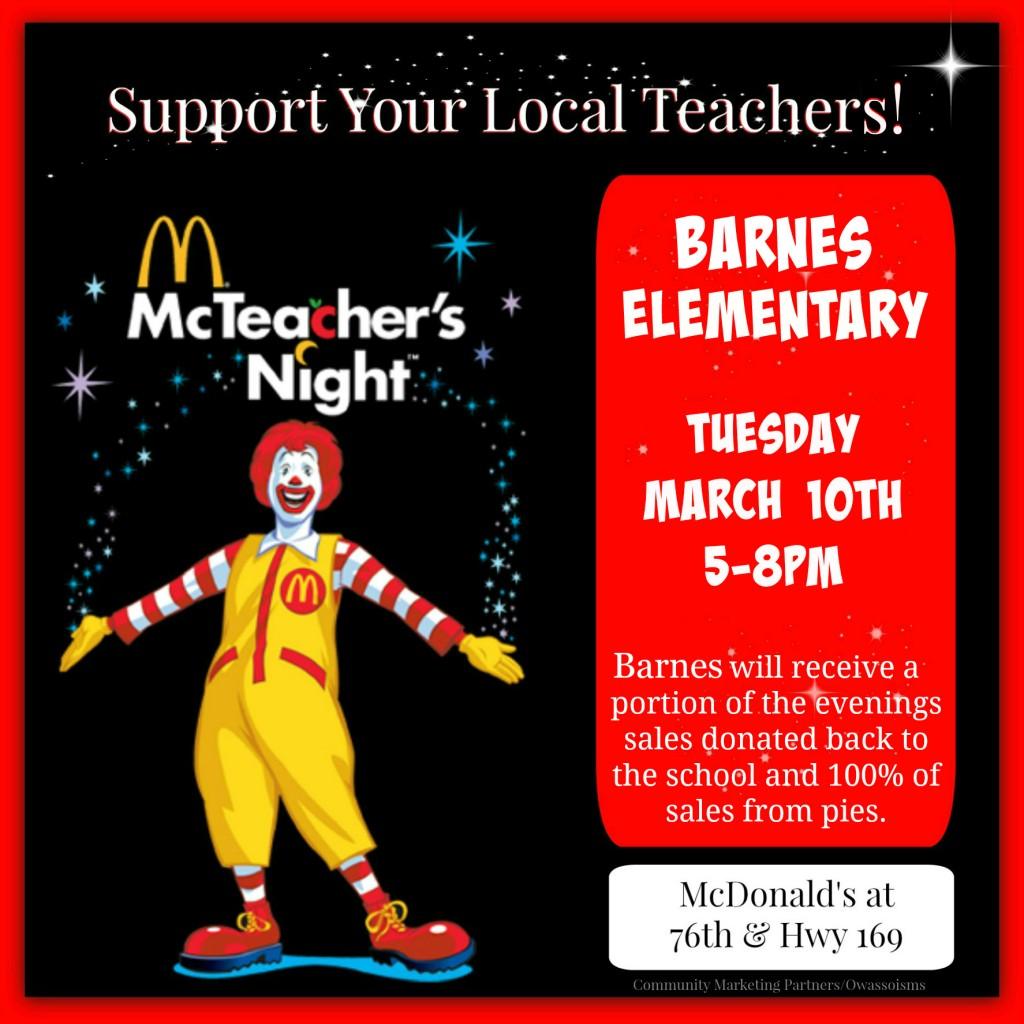 McTeacher 76 Barnes Elem