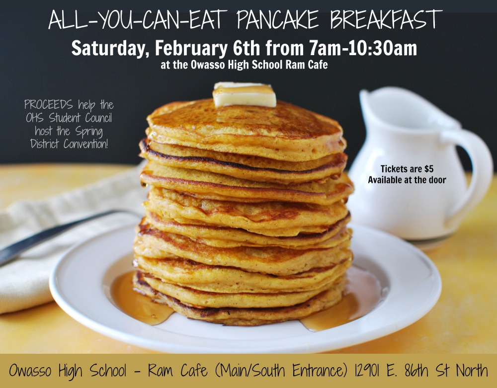 OHS Student Council Hosts All You Can Eat Pancake Breakfast Fundraiser at the Ram Cafe