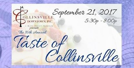 16th Annual Taste of Collinsville to be held September 21st