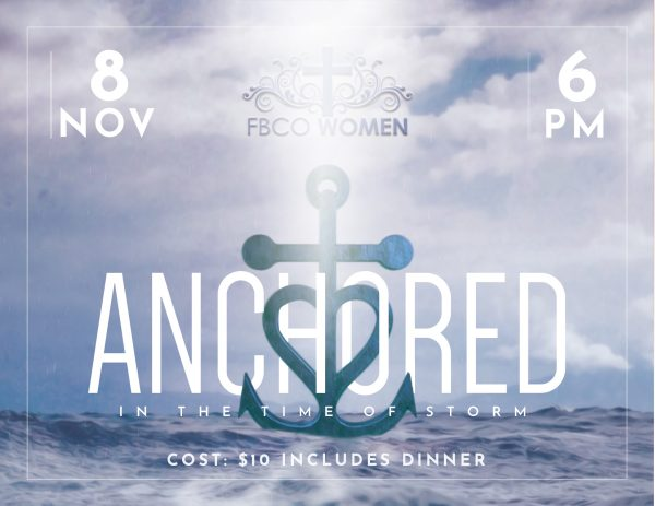 Anchored Women's Event in November with First Baptist Church of Owasso