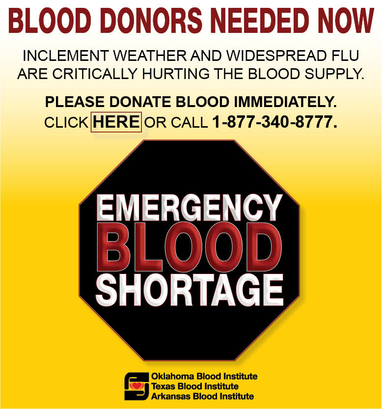 Emergency Blood Shortage: Blood Donors Needed Now