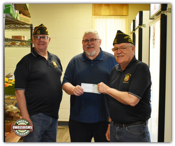 Community Helping Community: Owasso VFW Raises over $1,100 for Owasso Community Resources