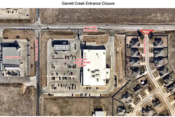 132nd Garrett Creek Neighborhood Entrance to Close Through Mid-December