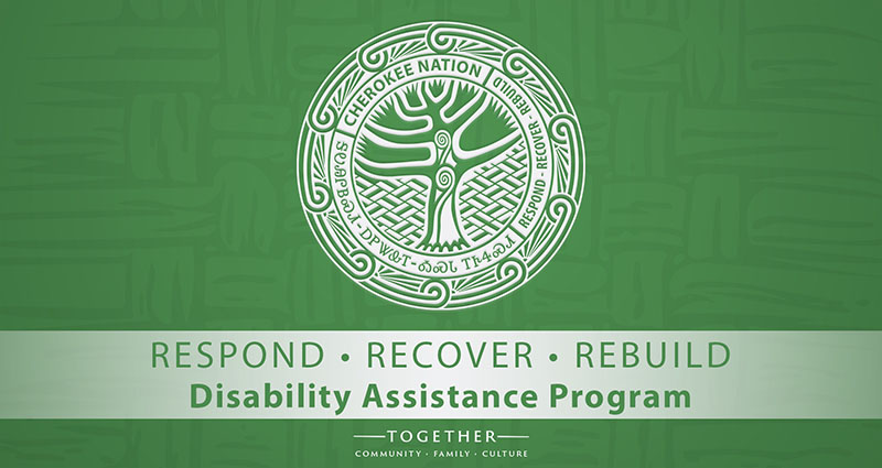 Cherokee Nation $9 million Disability Assistance Program Application Deadline November 6