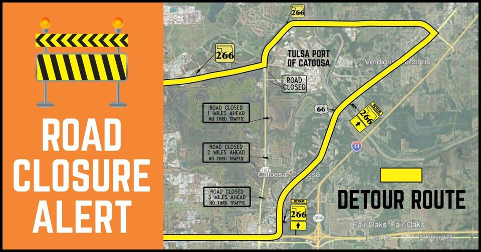Road Construction Delays Near the Port of Catoosa Through February